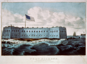 Lithograph of Fort Pickens, c. 1860s