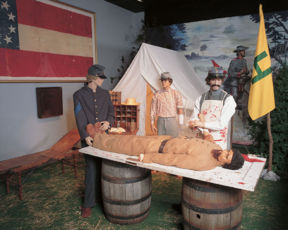 A medical display at the museum