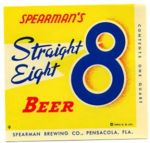 Spearman Straight Eight Beer label