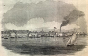 The yard in 1861, occupied by Confederate troops