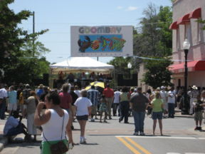 A steel drum band plays at the first annual Goombay Festival