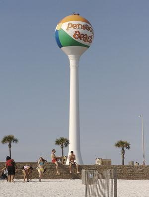 Beach Ball In Water beach ball water tower - pensapedia, the pensacola encyclopedia