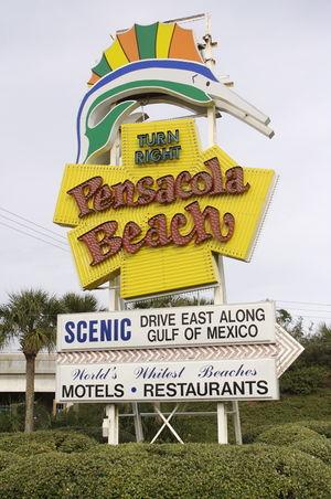 Pensacola Beach Sign Pensapedia The Pensacola Encyclopedia