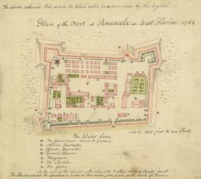1764 plan of the fort